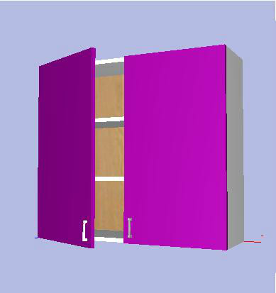 Modulo mueble alto cocina kit completo 70x x33 2p for Muebles de cocina en kit online