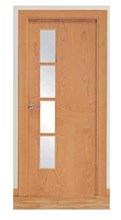 Puerta Block Serie ND4VL cerezo