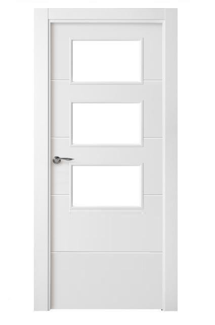 Puerta block serie pvt5 v4h 3 vidrio - Cristales para puertas de salon ...