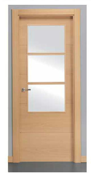 Puerta block serie v4h3v madera haya vaporizada - Puertas haya vaporizada ...